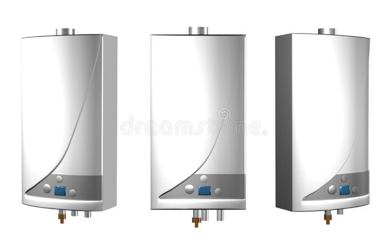Calderas de gas stock de ilustración