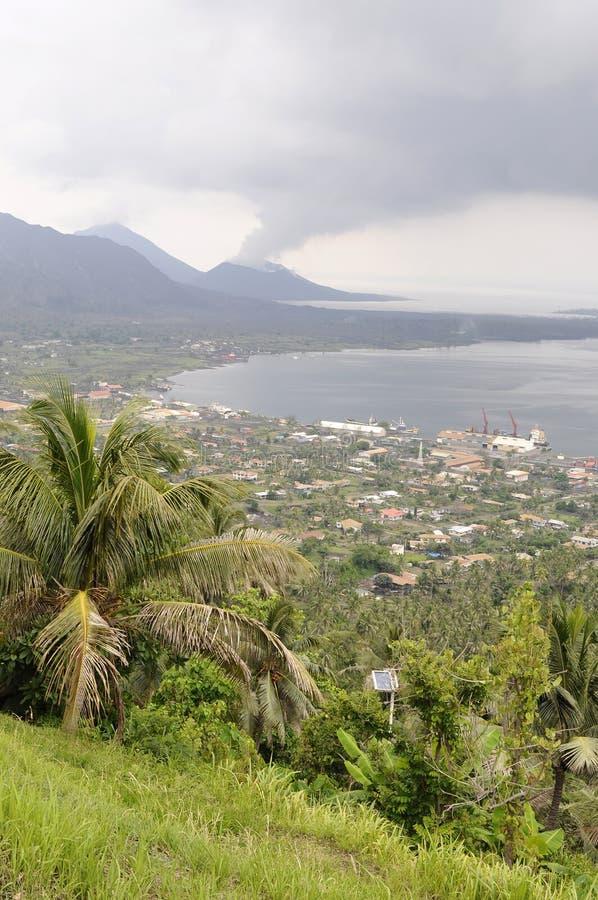 caldere Rabaul tavurur wulkan zdjęcia royalty free