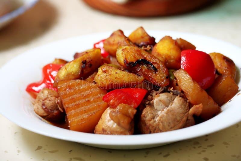 Caldereta uma culinária filipina da carne imagem de stock