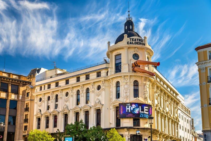 Calderon剧院在马德里,西班牙 免版税库存照片