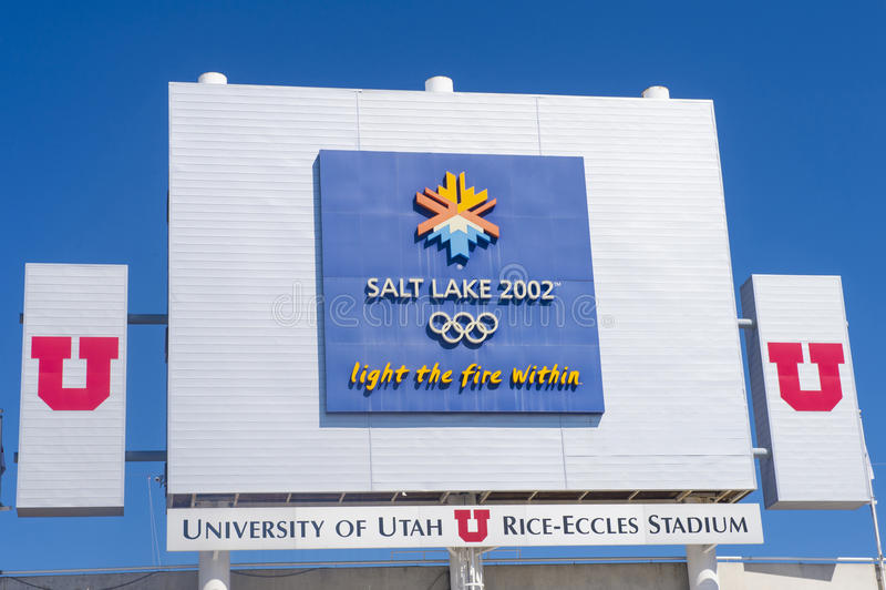 Calderone olimpico di Salt Lake City immagine stock libera da diritti