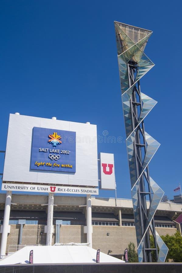 Calderone olimpico di Salt Lake City fotografia stock libera da diritti