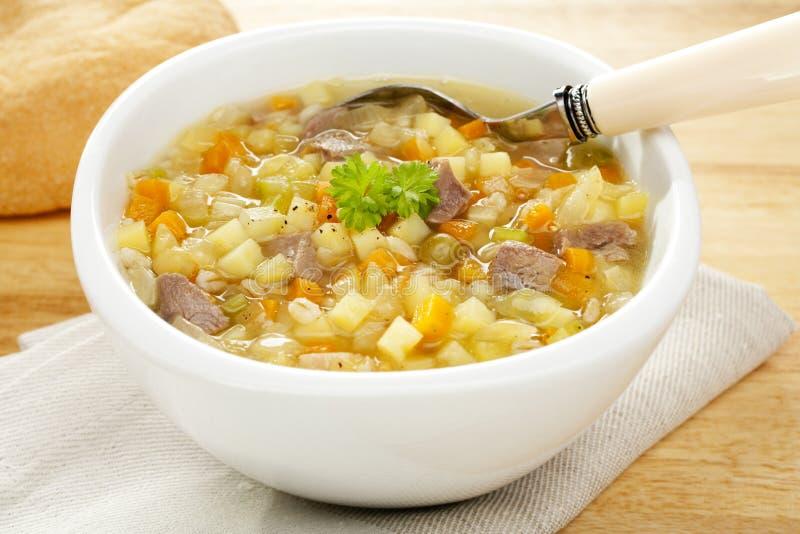 Caldo de carne escocês de sopa vegetal imagens de stock royalty free