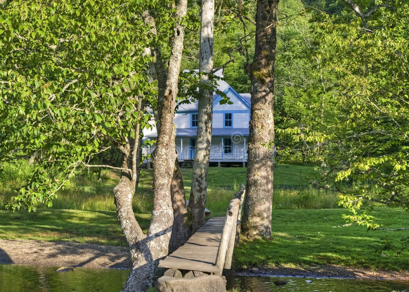 Caldwell Home, Cataloochee Valley, Great Smoky Mountains Nationa. The Caldwell Home built in 1903 in the Cataloochee Valley, Great Smoky Mountains National Park stock photo
