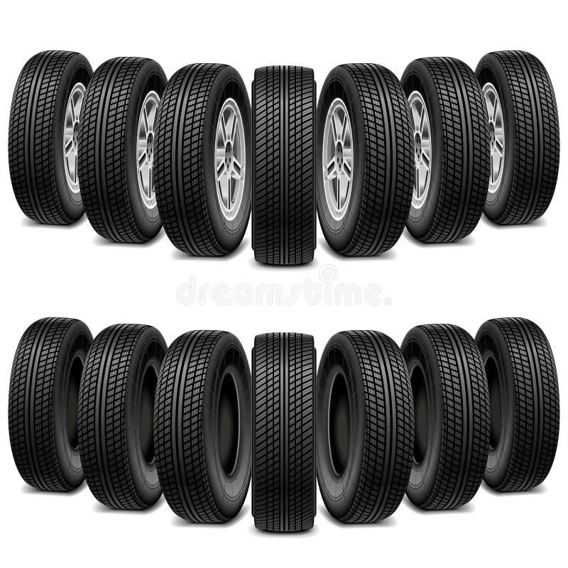 Cale de vecteur des pneus illustration stock