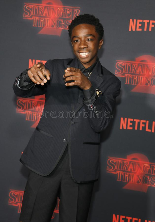 Caleb McLaughlin. At the Netflix`s season 2 premiere of `Stranger Things` held at the Regency Village Theatre in Westwood, USA on October 26, 2017 royalty free stock photography