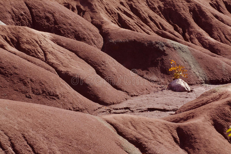 Caledon Badlands. A close of of the Caledon Badlands in Ontario Canada stock image