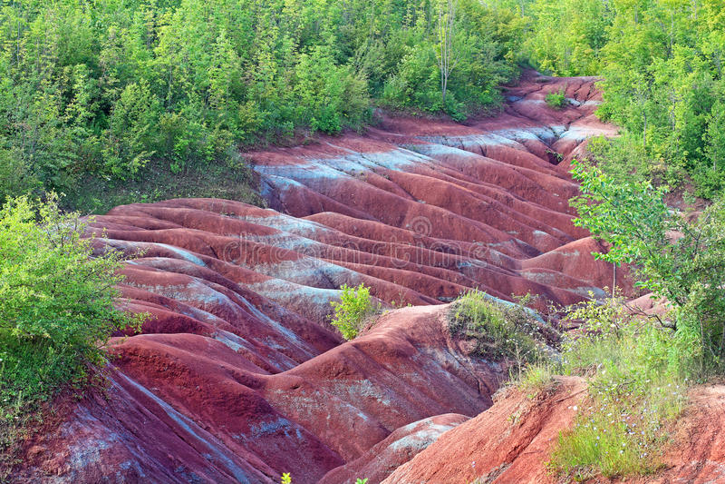 Caledon Badlands in Ontario stock foto's