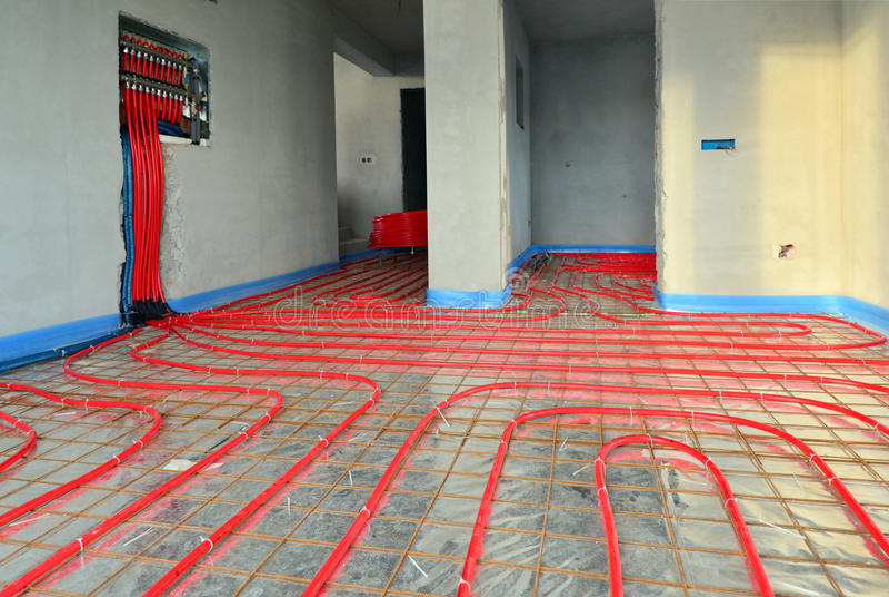 Calefacción de piso 2 imagen de archivo