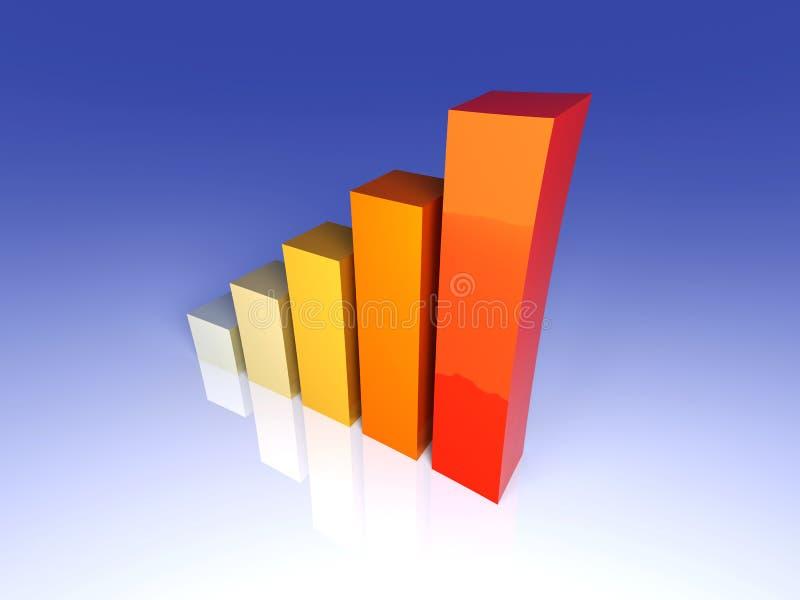 Calefacción para arriba de estadística ilustración del vector