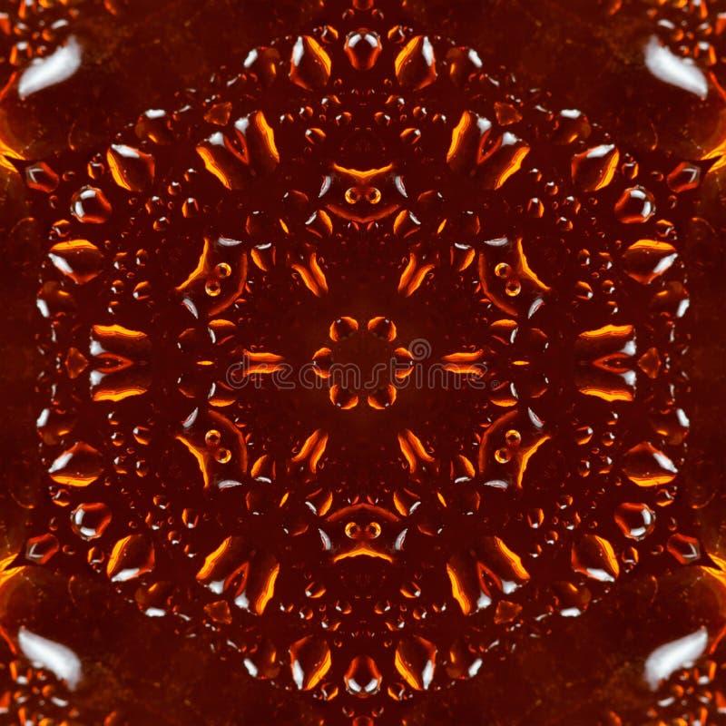 Caleidoscópio ambarino do teste padrão da resina das gotas Textura imagens de stock royalty free