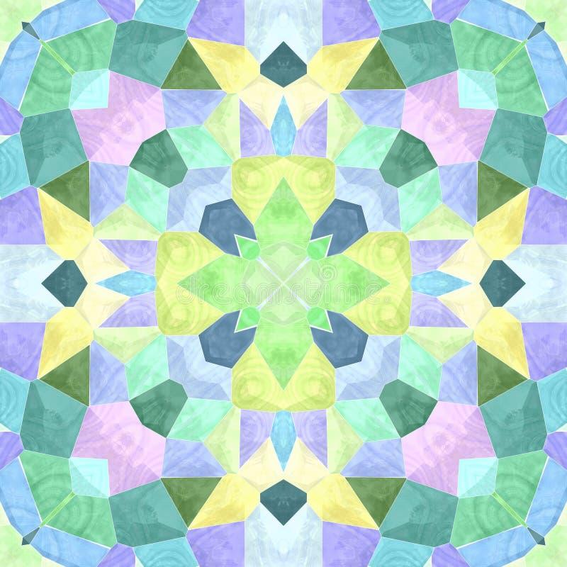 Caleidoscópio colorido com tão muitos ornamento e cor, textura sem emenda ilustração royalty free
