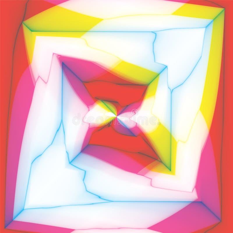 Caleidoscópio colorido, espiral do centro ilustração do vetor