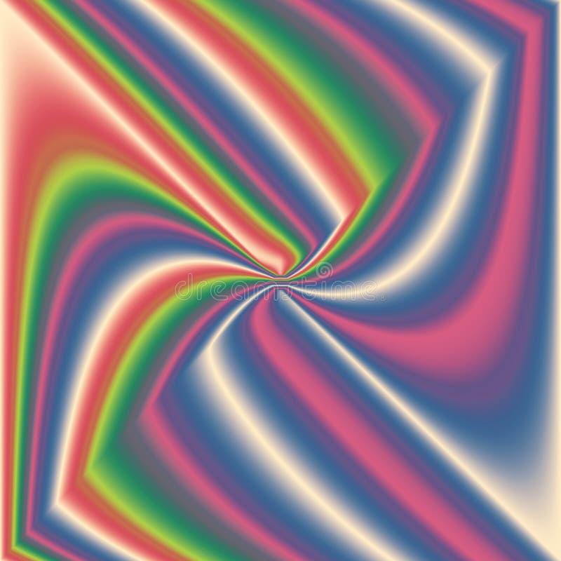 Caleidoscópio colorido, espiral do centro ilustração royalty free