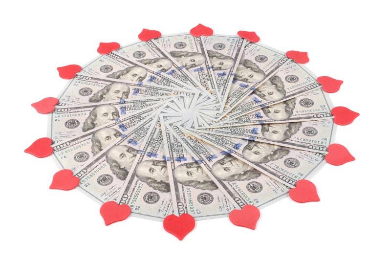 Caleidoscópio da mandala do dinheiro ilustração stock