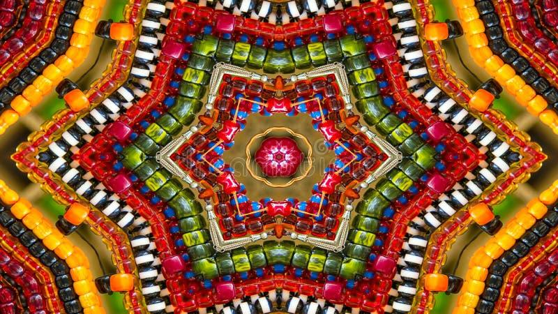 Caleidoscópio simétrico hipnótico colorido imagem de stock