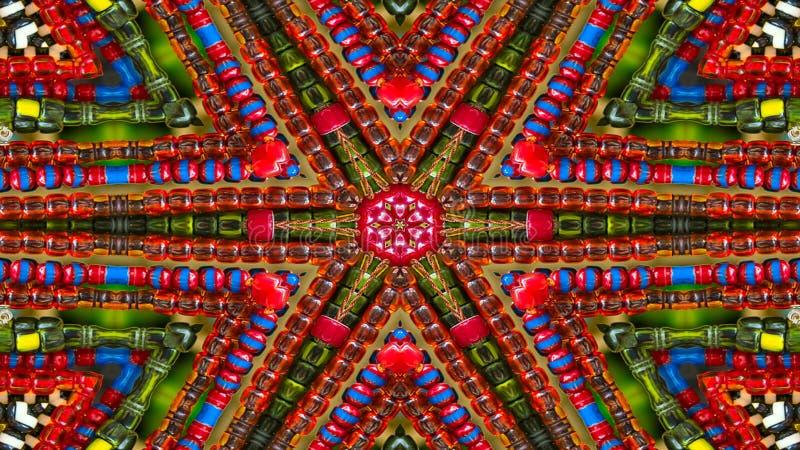 Caleidoscópio simétrico hipnótico colorido imagem de stock royalty free