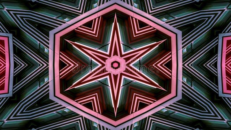 Caleidoscópio simétrico hipnótico colorido foto de stock