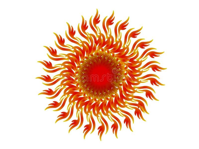 Caleidoscópio - vermelho ilustração stock