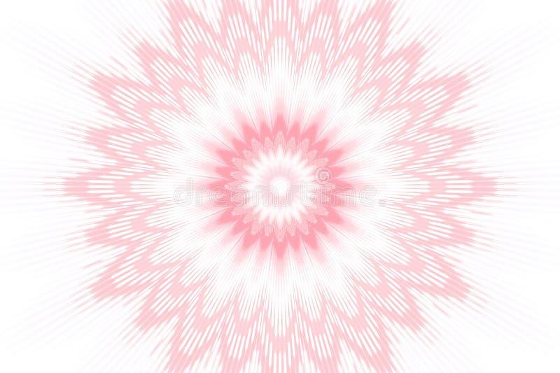Caleidosc?pio cor-de-rosa floral do teste padr?o de flor Mandala dos motivos ilustração stock