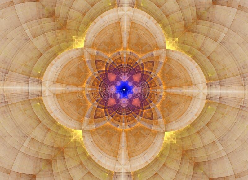 Caleidoscoop abstracte heilige meetkunde Etnisch fractal kunstwerk vector illustratie