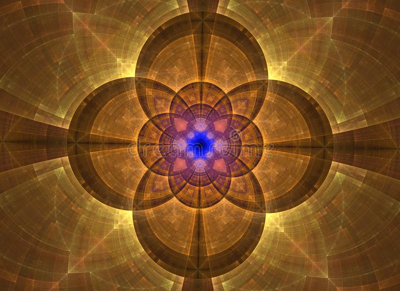 Caleidoscoop abstracte heilige meetkunde Etnisch fractal kunstwerk stock illustratie