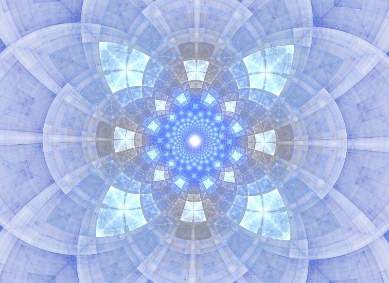 Caleidoscoop abstracte heilige meetkunde Etnisch fractal kunstwerk royalty-vrije illustratie