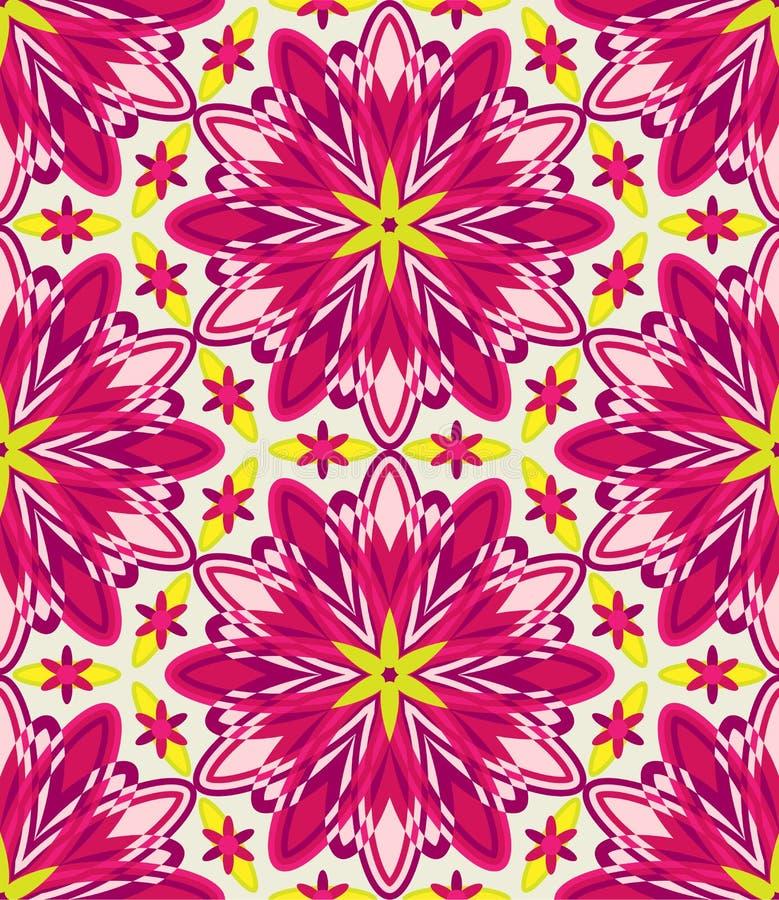 Caleidoscoop geometrisch roze naadloos patroon vector illustratie