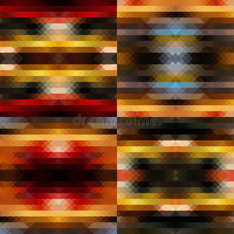Caleidoscoop kleurrijke reeks stock illustratie