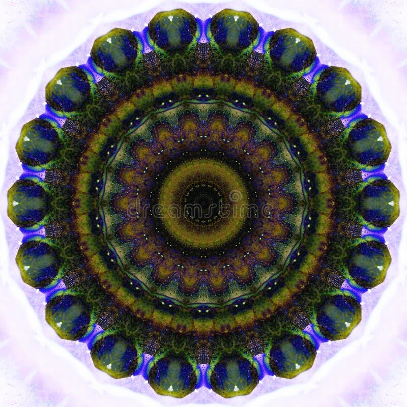 Caleidoscoop, mandala kleurrijke achtergrond stock afbeelding