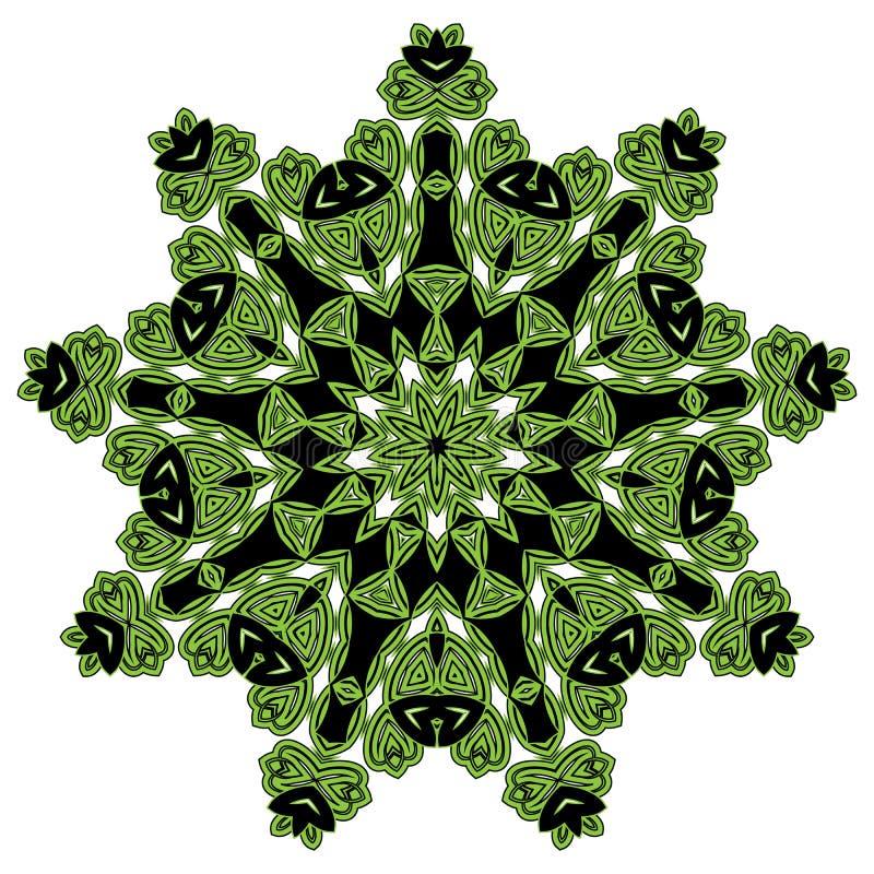 Caleidoscoop van het kant de bloemen witte etnische ornament royalty-vrije illustratie