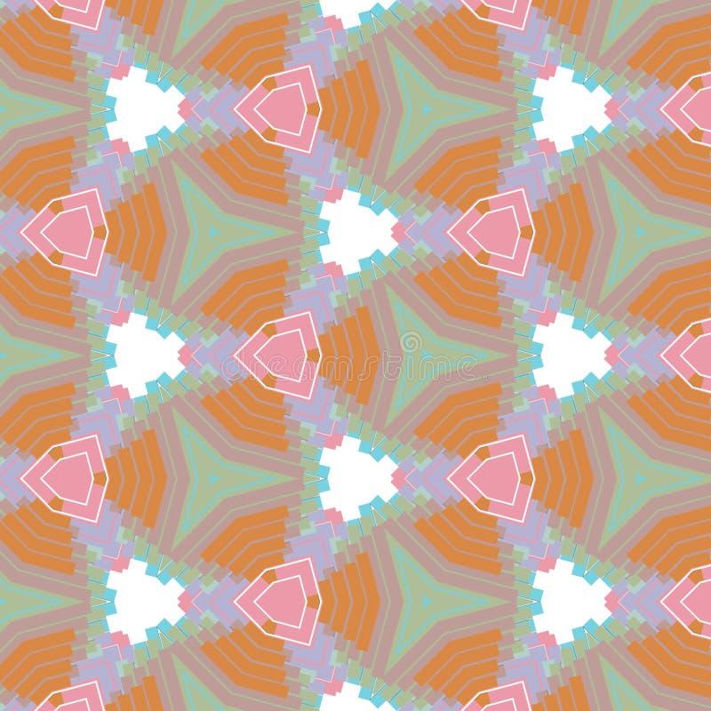Caleidoscope-Grafikdesign-Farbhintergrund mit dem Rosa, violett, Orange, Blaulichtfarben lizenzfreie abbildung