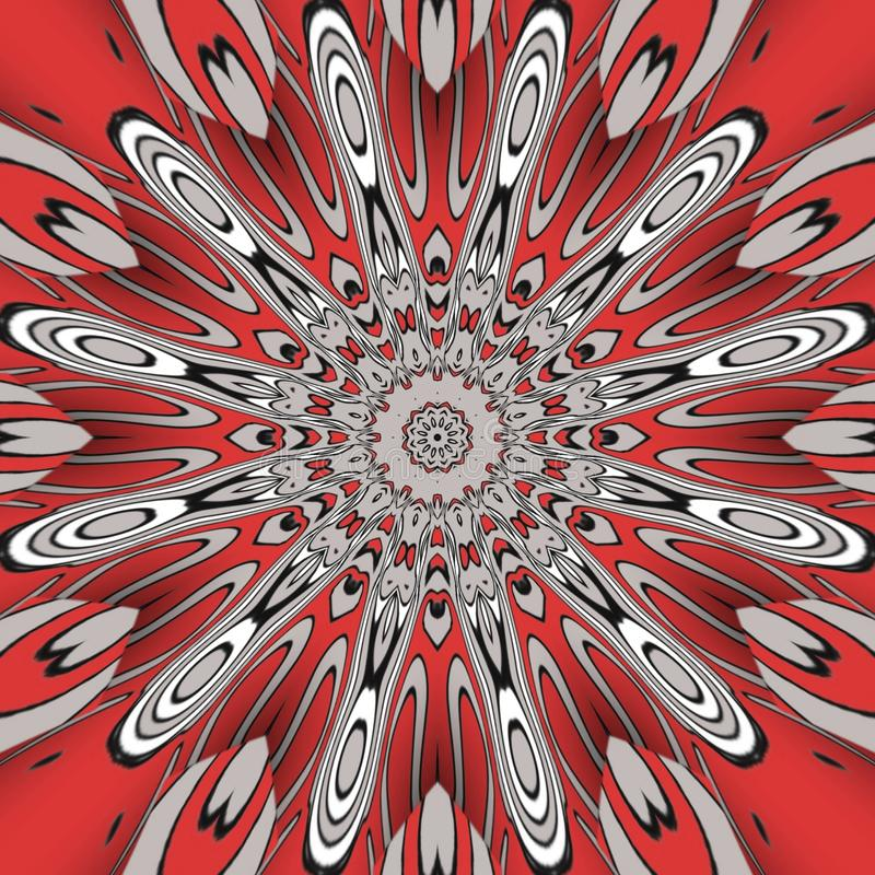 Red abstract and  digital art forms royalty free stock photography