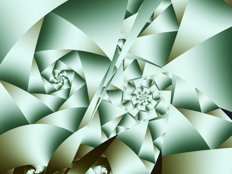 Caleidoscopio astratto di frattale dei triangoli royalty illustrazione gratis