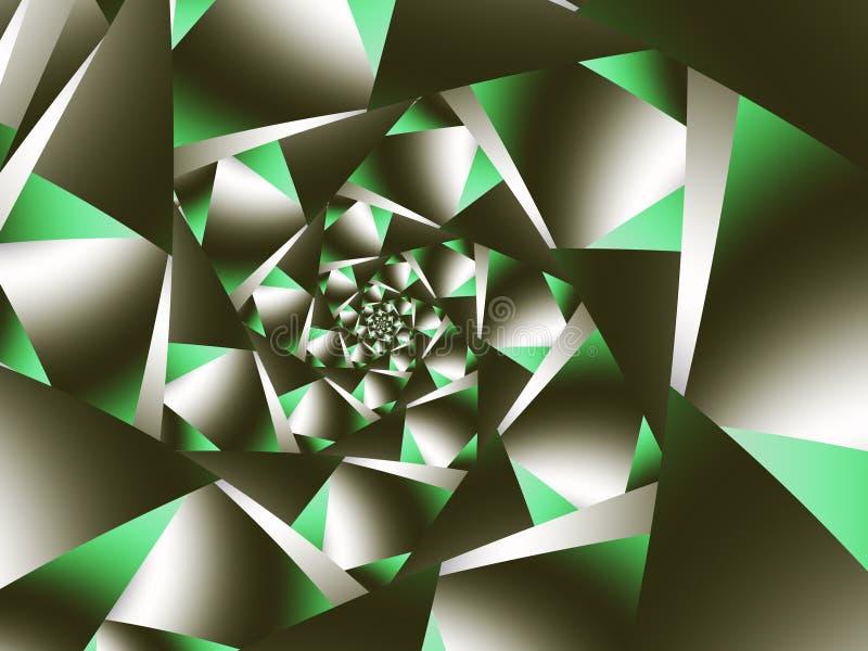 Caleidoscopio astratto di frattale dei triangoli illustrazione vettoriale
