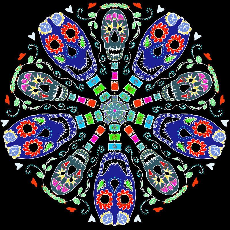 Caleidoscopio de cráneos libre illustration