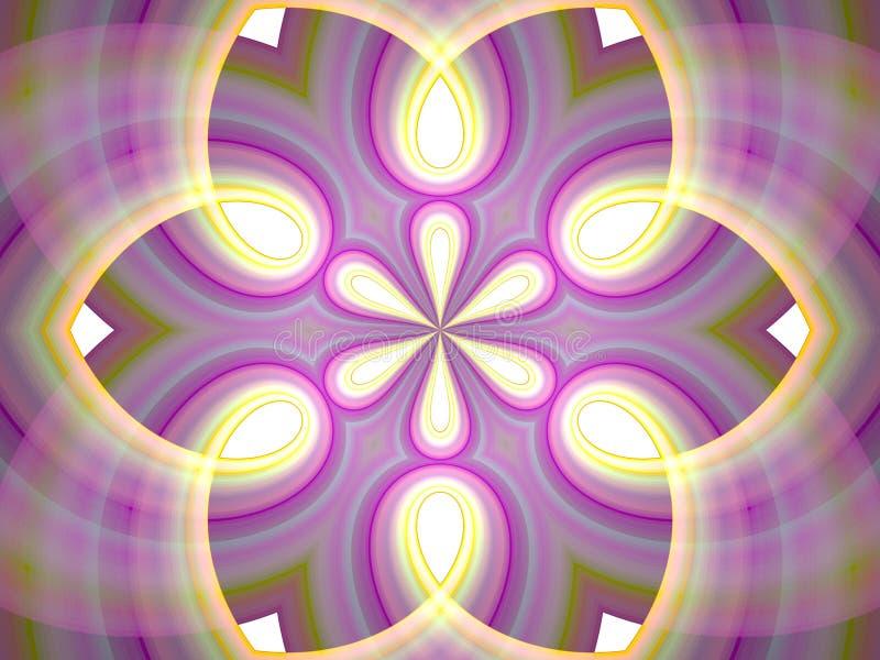 Caleidoscopio de la meditación del fractal libre illustration