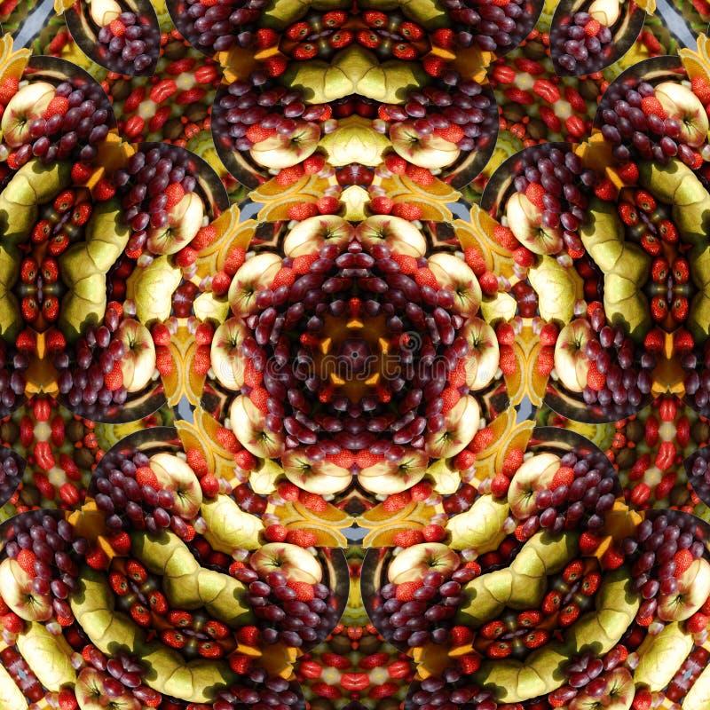 Caleidoscopio del disco della frutta   royalty illustrazione gratis