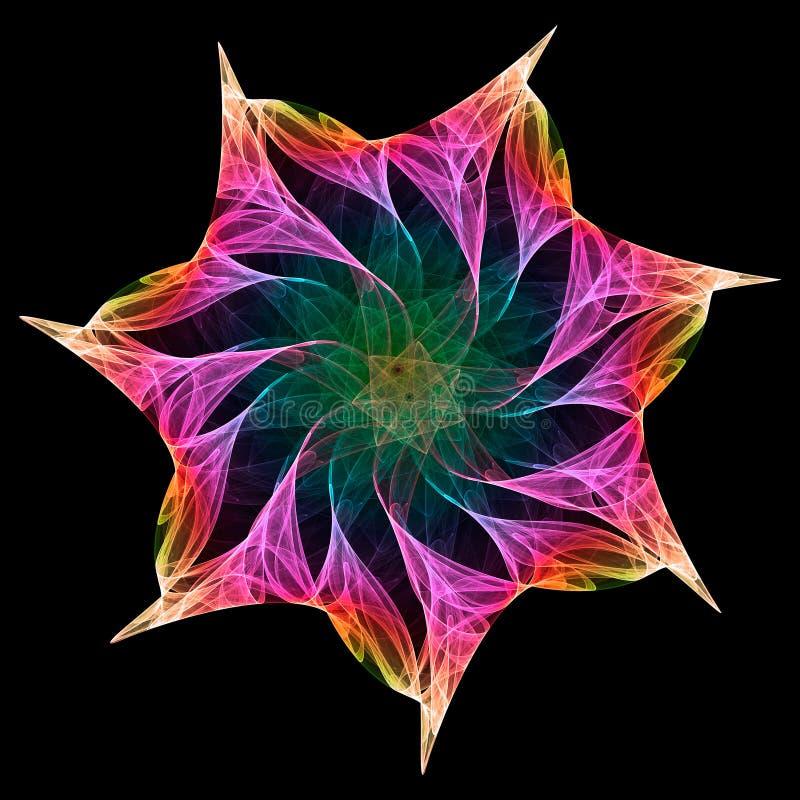 Caleidoscopio del fractal ilustración del vector