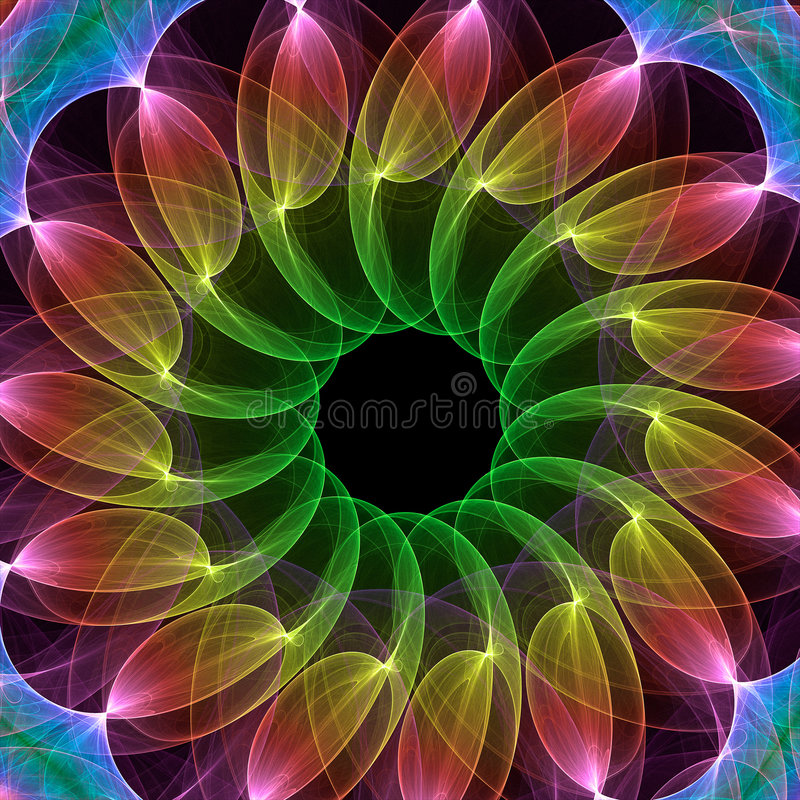 Caleidoscopio del fractal libre illustration