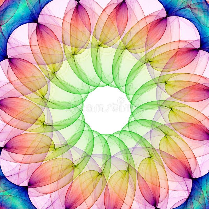 Caleidoscopio del fractal stock de ilustración