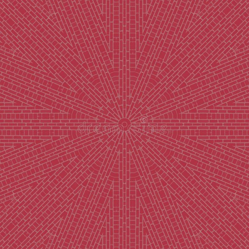 Caleidoscopio del modello delle mattonelle dei blocchetti dei mattoni boohoo royalty illustrazione gratis