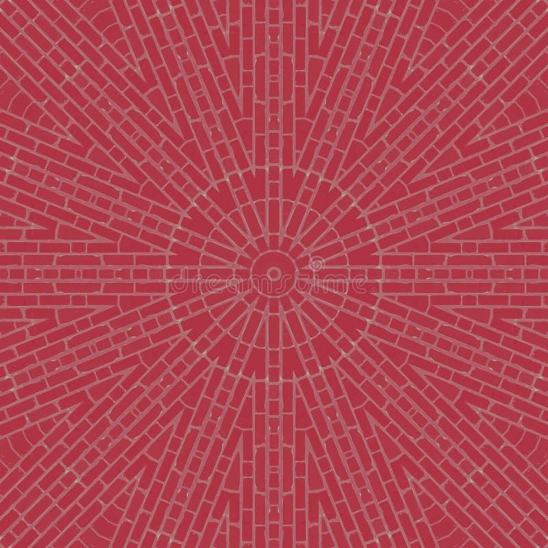 Caleidoscopio del modello delle mattonelle dei blocchetti dei mattoni motivo illustrazione vettoriale
