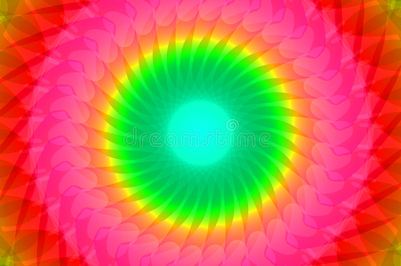 Caleidoscopio dell'arcobaleno royalty illustrazione gratis