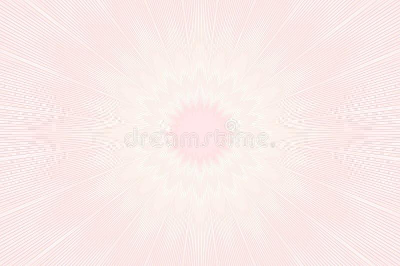 Caleidoscopio floreale del modello molle del fiore complicato illustrazione vettoriale