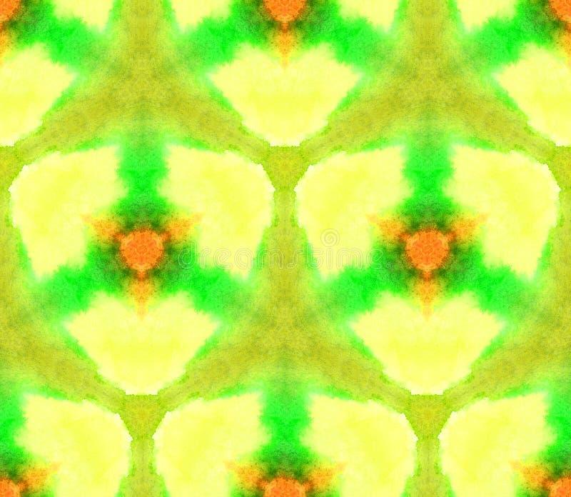 Caleidoscopio inconsútil del modelo de la acuarela de la textura de la luz, amarillo puro de los colores libre illustration