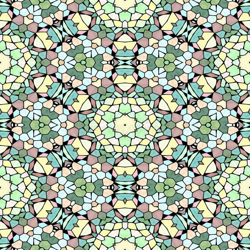 Caleidoscopio inconsútil multicolor del modelo de la textura ilustración del vector