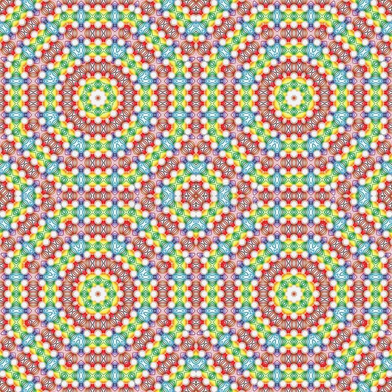 Caleidoscopio multicolor del extracto del fondo colorido simetría del ejemplo libre illustration
