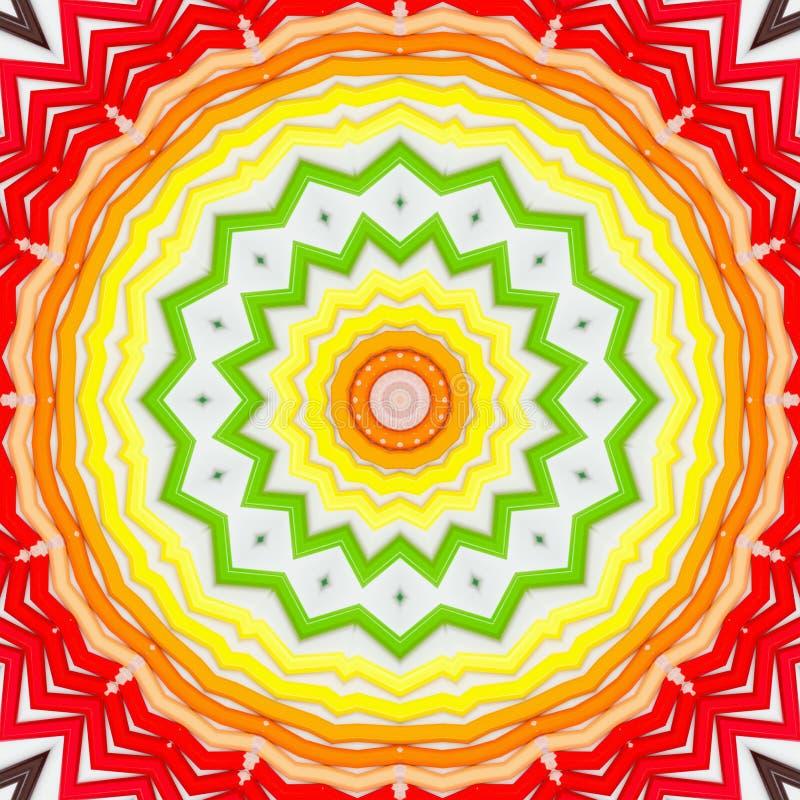 Caleidoscopio multicolore dell'estratto del fondo variopinto simmetria di struttura royalty illustrazione gratis