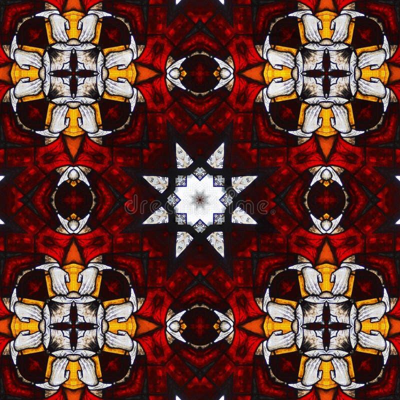 Caleidoscopio santo #2 di vetro macchiato fotografie stock